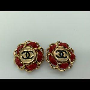 Chanel Logo Custom Antique Earrings